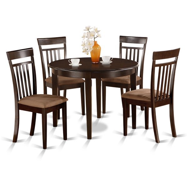 Small round 5 piece kitchen table and 4 dining chairs for Small kitchen table with 4 chairs