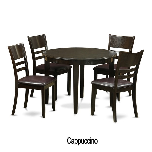 5 Piece Small Kitchen Dining Nook And 4 Kitchen Chairs