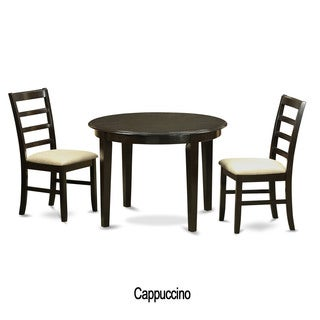 Cappuccino 3 piece solid top drop leaf dinette set for Kitchen set new leaf