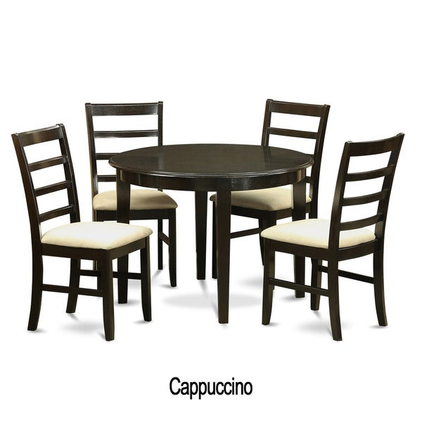 5 piece small round kitchen table and 4 dining chairs for Small dining table with 4 chairs