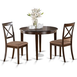 3-piece Small Round Table and 2 Dining Chairs