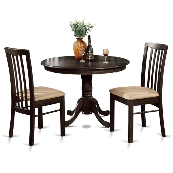 shop 3 piece small kitchen round table and 2 dining chairs free shipping today. Black Bedroom Furniture Sets. Home Design Ideas
