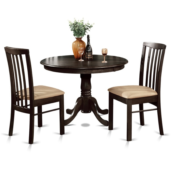 3 Piece Small Kitchen Round Table And 2 Dining Chairs
