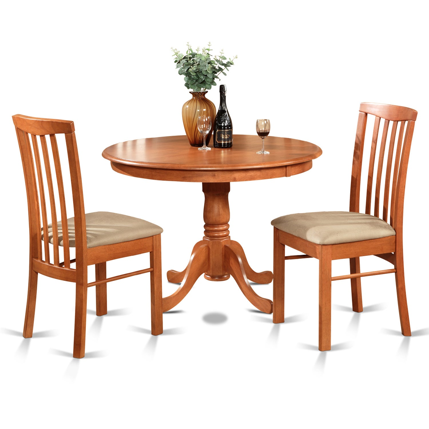 3-piece Kitchen Nook Table and 2 Kitchen Chairs (Light Ch...