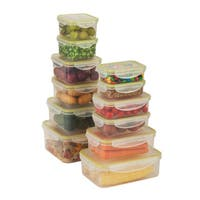 Honey-Can-Do Snap Lock Clear Food Storage 24-piece Set