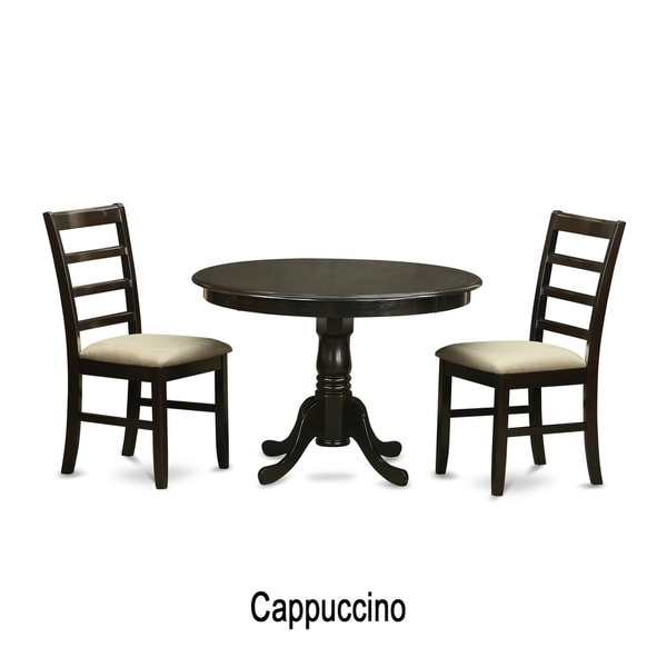 shop 3 piece small dining table and 2 dinette chairs free shipping today overstock 10296445. Black Bedroom Furniture Sets. Home Design Ideas