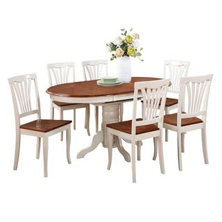 7 piece oval dining room table with leaf and dining chairs - Oval Dining Table And Chairs