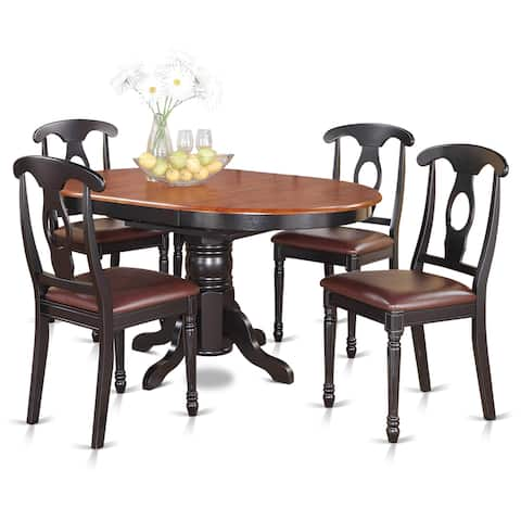 5-piece Oval Dining Table and 4 Dining Chairs