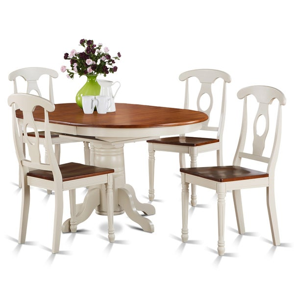 5 piece oval dining table and 4 dining chairs free