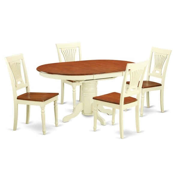 piece oval dinette table with leaf and 4 dining chairs free
