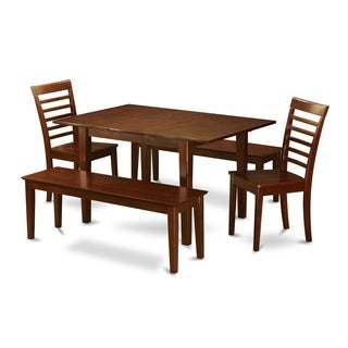 5-piece Small Dinette Table and 2 Dining Chairs and 2 Benches