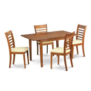 5-piece Small Table and 4 Dining Room Chairs