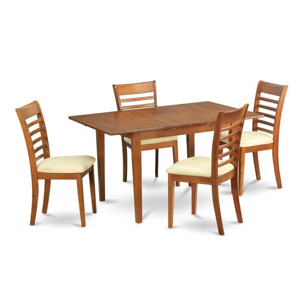 shop 5 piece small table and 4 dining room chairs free shipping today overstock 10296456. Black Bedroom Furniture Sets. Home Design Ideas