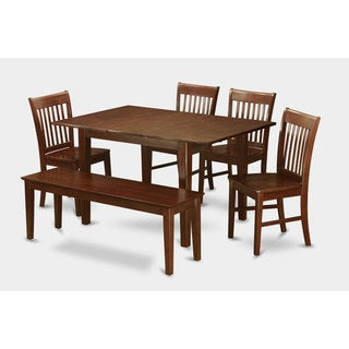 6-piece Dinette Table and 4 Dining Chairs and Bench