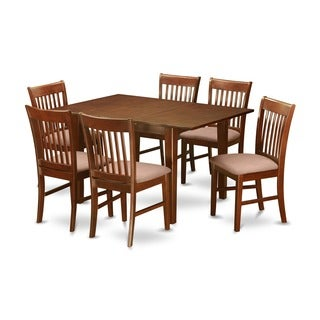 7-piece Small Dining Table and 6 Kitchen Chairs