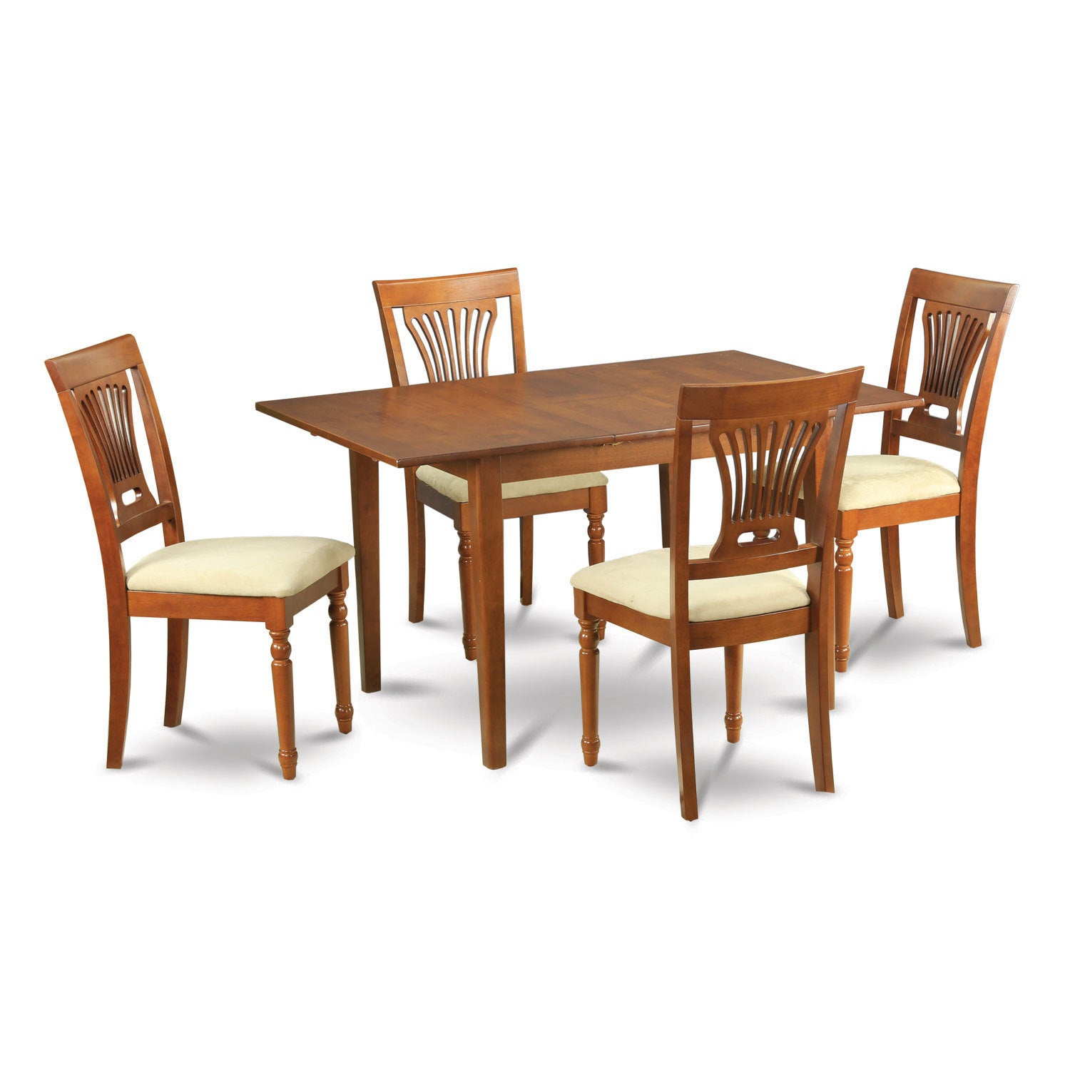 5-piece Small Dining Table and 4 Kitchen Chairs (Microfib...