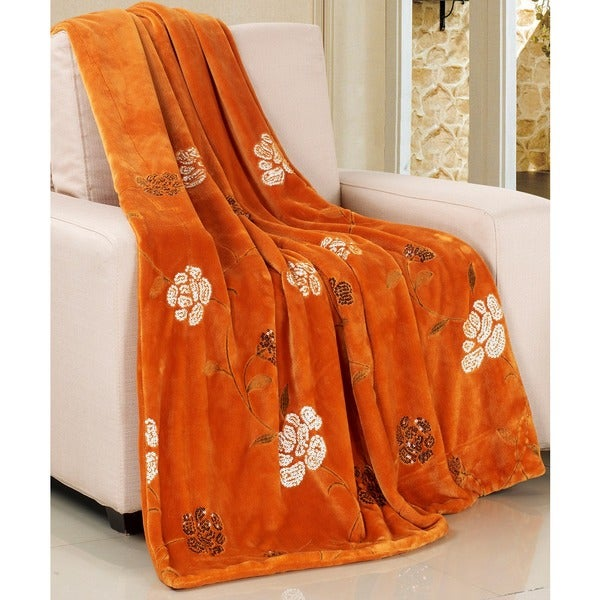BOON Embroidered Sequin Throw