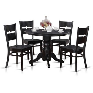 5-piece Kitchen Nook Round Table with 4 Dinette Chairs