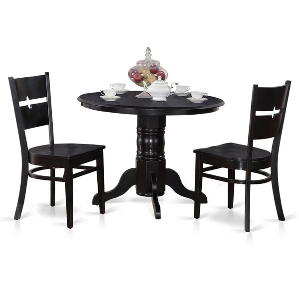 3 Piece Round Table And 2 Dining Chairs Free Shipping Today 10296483