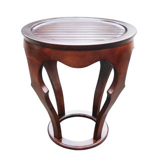 D-ARt Mahogany Baronnes Round Lamp Table