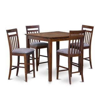 5-piece Pub Square Counter Height Table and 4 Stools