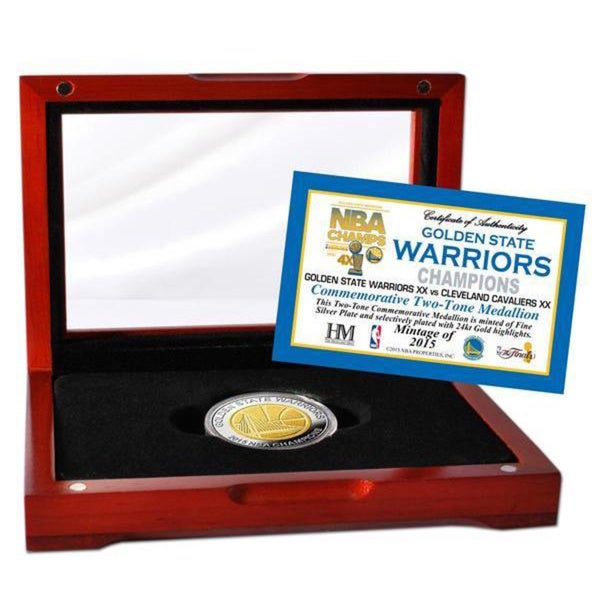 Golden State Warriors 2015 NBA Finals Champions Two-Tone Mint Coin