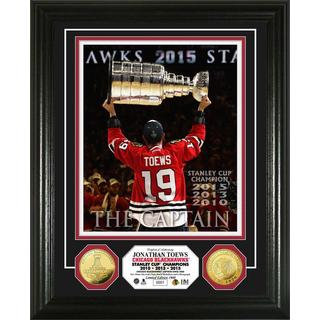 Jonathan Toews 'The Captain' 3-Time Stanley Cup Champion Gold Coin Photo Mint