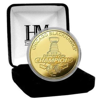 Chicago Blackhawks 2015 Stanley Cup Champions Gold Mint Coin