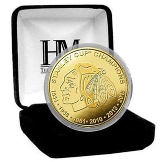 Chicago Blackhawks 6-Time Stanley Cup Champions Gold Mint Coin
