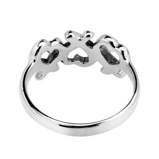 Promise of Love Triple Heart .925 Sterling Silver Ring (Thailand)