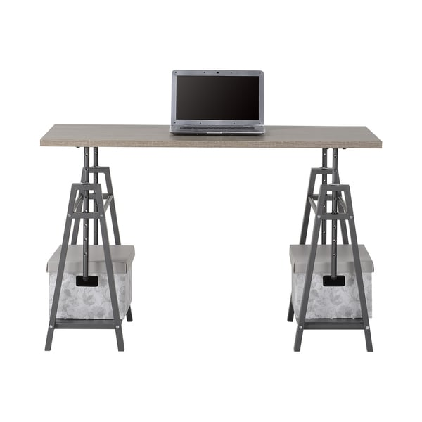 homestar height adjustable desk in reclaimed wood free shipping today