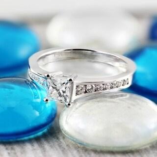 auriya 14k gold 1ct tdw princesscut diamond solitaire engagement ring