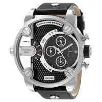 Diesel Men's DZ7256 Chronograph Black Leather Strap Watch,