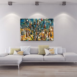P Studio 'Bottle Tree' 28x42 Canvas Wall Art