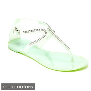 Women's Studded T Strap Jelly Sandal