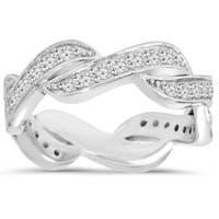 14k White Gold 2/3 ct TDW Diamond Infinity Anniversary Ring