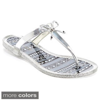 Women's Jelly Thong Sandal with Bow