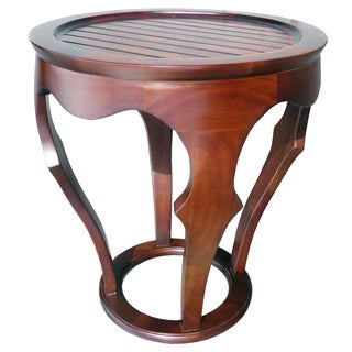 D-ARt Mahogany Baronnes Round Lamp Table (Indonesia)