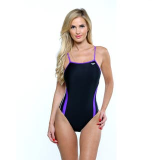 Speedo Women's Rapid Spliced Energy Back One Piece Swimsiut|https://ak1.ostkcdn.com/images/products/10296683/P17410451.jpg?impolicy=medium