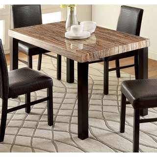 Furniture of America Dymen Contemporary Faux Marble Top Dining ...