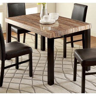 Furniture Of America Dymen Contemporary Faux Marble Top Dining Table   Black