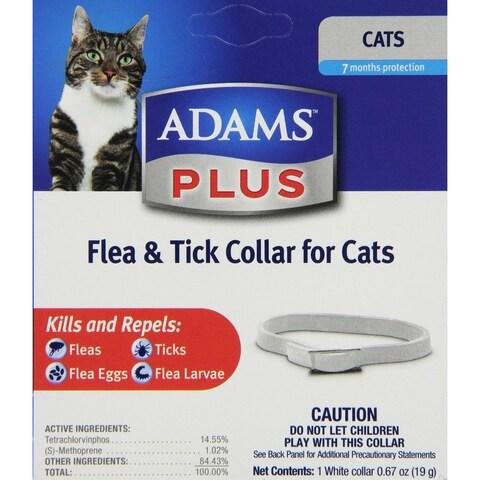 Farnam Adams Plus Flea and Tick Control Collar for Cats (7 Month)