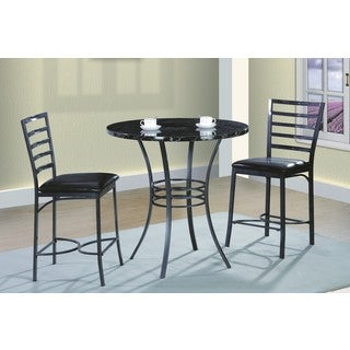 Easy Home Living Black 3-Piece Dinette Set