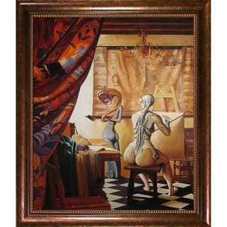 Adrian Borda 'Allegory of Painting' Framed Fine Art Print