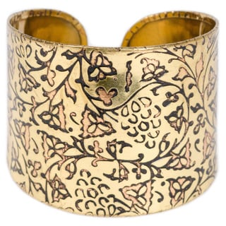 Ivy Wine Brass Cuff (India)