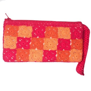 Handmade Tulip Orange Wristlet (India)