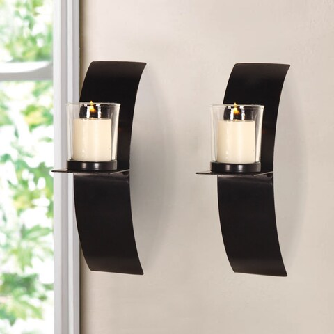 Vertical Wall Hanging Minimalist Modern Style Candle Holder Sconce (Set of 2)