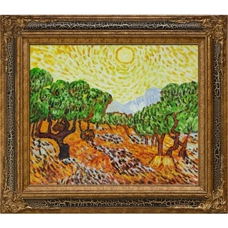 Van Gogh 'Olive Trees with Yellow Sun' Hand Painted Oil Reproduction