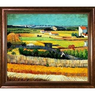 Vincent Van Gogh 'The Harvest' Hand Painted Framed Canvas Art