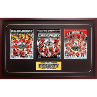 Link to 2015 Stanley Cup Champions Chicago Blackhawks 15x35 Three Photo Frame Similar Items in Fan Shop